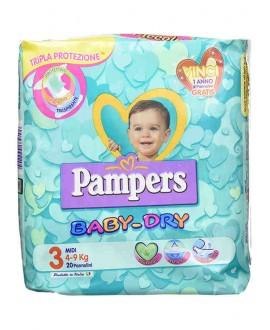 PAMPERS BABY DRY MIDI N.3 KG 4-9 PZ.22