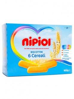 NIPIOL BISCOTTI 6 CEREALI GR360