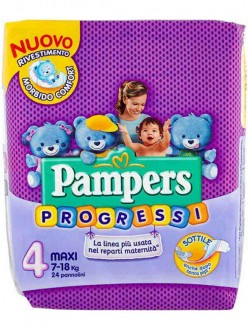 PAMPERS PANN.PROGRESSI N'°4 MAXI 24