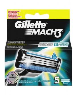GILLETTE CARICATORI MACH3 X 5