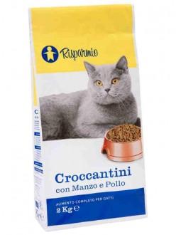 SIGMA RISPARMIO CROCCANTINI CAT MANZO/POLLO KG. 2