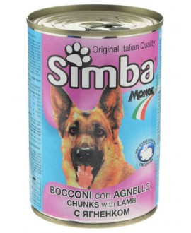 SIMBA CANE BOCCONI CON AGNELLO 415G