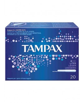 TAMPAX BLUE BOX LITES x20