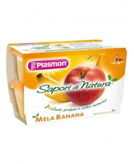 PLASMON SAPORI DI NATURA MELA/BANANA GR.100X4
