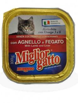 MIGLIOR GATTO VASCH.AGNELLO/FEGATO GR.100