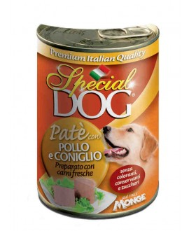 MONGE - SPECIAL DOG PATÈ POLLO E CONIGLIO 400G