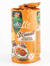 GALLO GALLETTE DI RISO 3 CEREALI GR.100