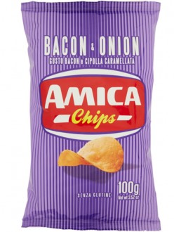 AMICA CHIPS PATAT.BACON&ONION GR 100