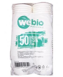WEBIO LULU BICCHIERE CARTA BIANCO ML.75 PZ.50