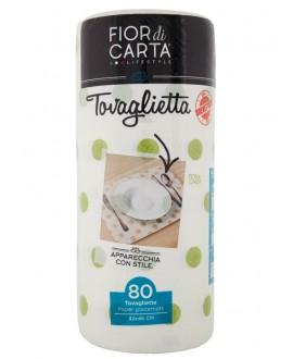 FIOR DI CARTA TOVAGLIETTA 2V VERDE PZ.1