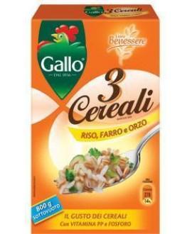 RISO GALLO 3 CEREALI GR.800