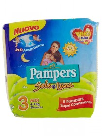PAMPERS SOLE E LUNA MIDI N.3 PZ.22