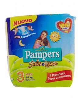 PAMPERS SOLE E LUNA MIDI N.3 PZ.22