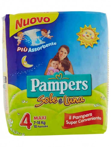 PAMPERS SOLE E LUNA MAXI N'°4 PZ.18