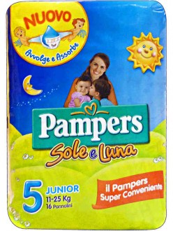 PAMPERS SOLE E LUNA JUNIOR N'°5 PZ.17
