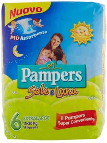 PAMPERS SOLE E LUNA N.6 EX.LARGE PZ14